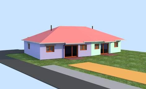 Vue architecturale maison séniors