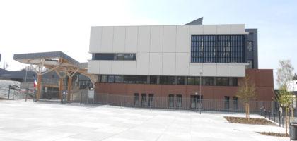 Construction du nouveau collège de la Petite Hollande Lou Blazer à Montbéliard